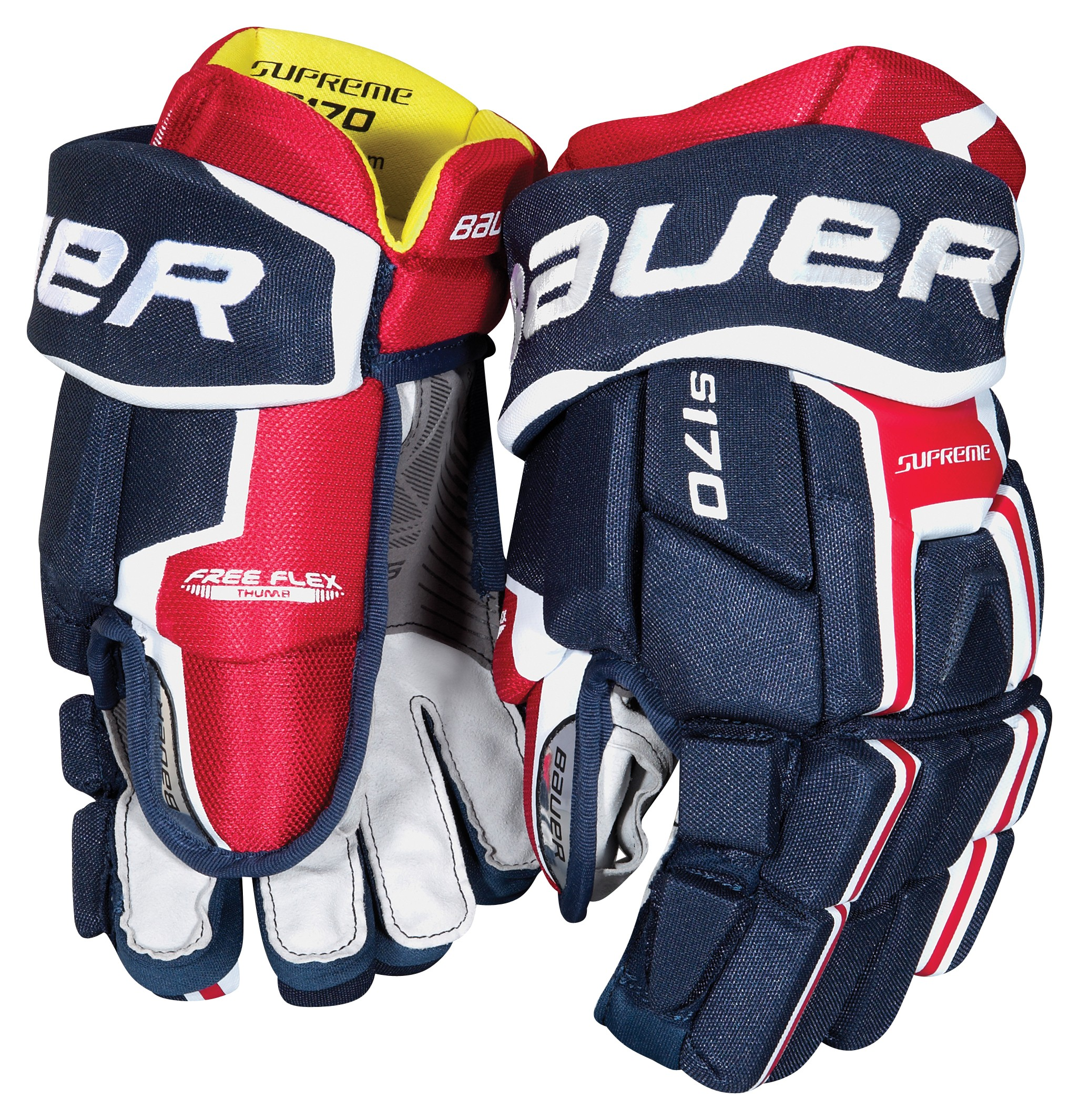 Hokejové rukavice BAUER SUPREME S170 junior empty 89131b2b58